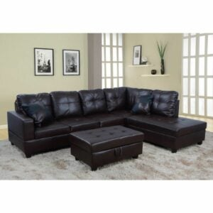 The Best Leather Sofa Option: Winston Porter Maumee Faux Leather Sofa with Ottoman