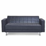 The Best Leather Sofa Option: Zipcode Design Rosina Faux Leather Reclining Sleeper