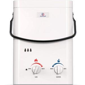 最佳丙烷罐式热水器选项:ECCOTEMP L5 1.5 GPM便携式户外无水加热器
