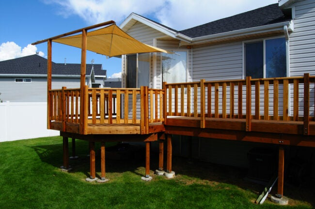 Redwood Deck with conopy