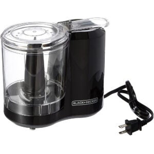 Vegetable Choppers Options: BLACK+DECKER 3-Cup Electric Food Chopper