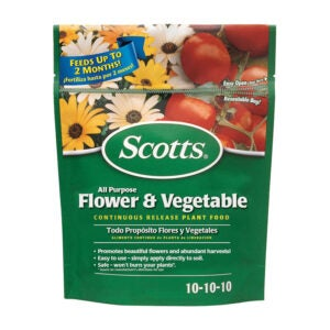 Best Fertilizer For Hibiscus Option: Scotts All Purpose Flower & Vegetable Food