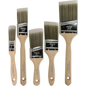 适用于聚氨酯选项的最佳刷子:Pro等级 - 油漆刷 -  5 EA  - 油漆刷套装