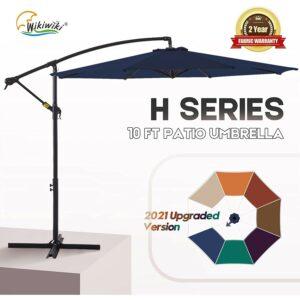 Best Cantilever Umbrella Option: wikiwiki H Series Patio Offset Hanging Umbrella