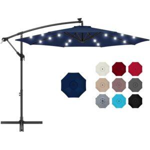 Best Cantilever Umbrella Option: Best Choice Products 10ft Solar LED Offset Umbrella