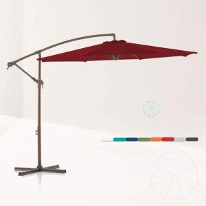 Best Cantilever Umbrella Option: LE CONTE METZ 10 ft. Offset Hanging Patio Umbrella
