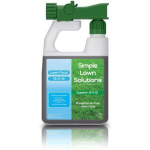 蜈蚣草的最佳肥料选项:简单的草坪解决方案高级15-0-15 NPK-草坪食品
