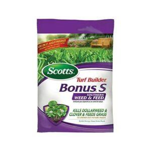 蜈蚣草的最佳肥料选择:Scotts草坪建设者奖金南部杂草和饲料