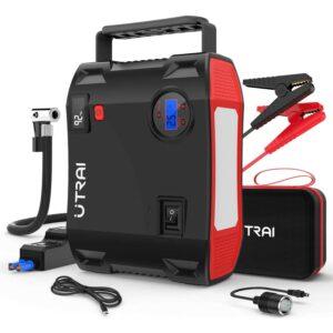 Best Jump Starter With Air Compressor Option: UTRAI Portable Jump Starter with Air Compressor