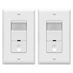 最佳运动传感器灯开关选项:TopGreener TDOS5-W-2PCS运动传感器灯开关