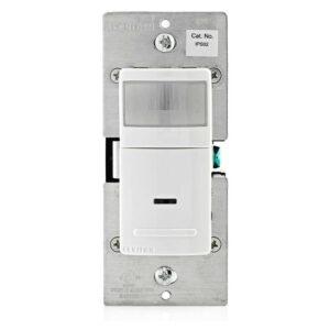 最佳运动传感器灯开关选项:Leviton IPS02-1LW Decora Motion Sensor In-Wall Switch