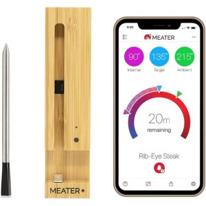 The Best Wireless Meat Thermometer Option: MEATER Plus Smart Wireless Meat Thermometer