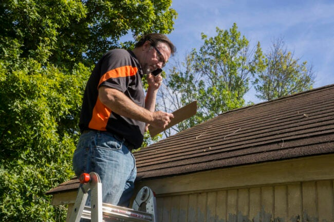 Hail Damage Roof Contact Your Insurance Company