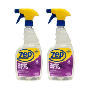 The Best Cleaner for Glass Shower Option: Zep Foaming Shower Tub and Tile Cleaner