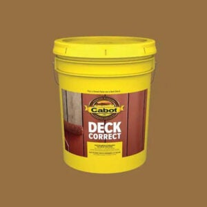 最好的甲板Resurfacer选项:Cabot Deckcorrect New Cedar Satin Mildew抗性