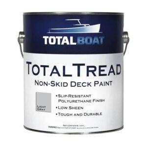 最佳甲板Resurfacer选项:TotalBoat-0121G综合统治性非滑动甲板涂料