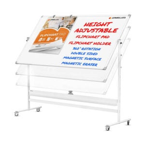 The Best Dry Erase Board Option: KAMELLEO Mobile Whiteboard - 48x36 Rolling