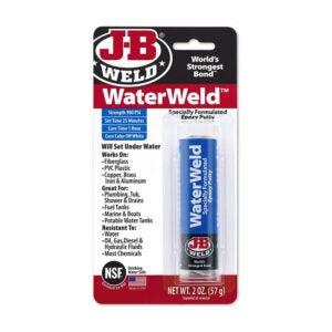 The Best Epoxy for Aluminum Option: J-B Weld 8277 WaterWeld Epoxy Putty Stick
