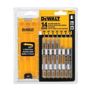 The Best Jigsaw Blades Option: DEWALT Jigsaw Blades Set with Case, T-Shank, 14-Piece