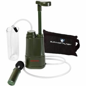 The Best Portable Water Filter Option: Survivor Filter Pro - Hand Pump Camping Water Filter