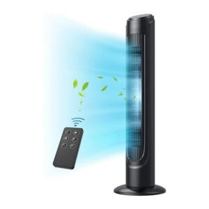 The Best Quiet Fan Option: Dreo Tower Fan, 90° Oscillating Fans with Remote