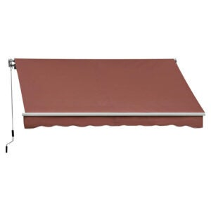 The Best Retractable Awning Option: Outsunny 10' x 8' Manual Retractable Awning