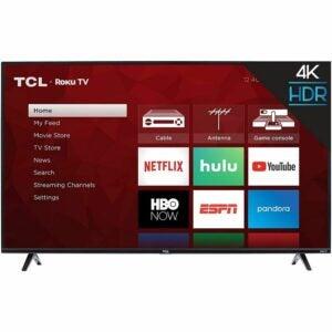 亚马逊Prime Day最佳电视套餐:TCL 50S425 50英寸4K智能LED Roku电视