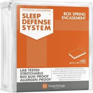 最好的床袋床垫罩选项:医院产品拉链盒弹簧封口