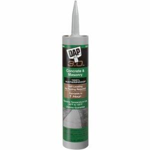 最佳混凝土裂缝填充物选项:DAP 18370自平整混凝土3.0密封胶