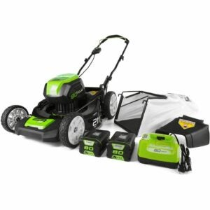 The Best Cordless Lawn Mower Option: Greenworks Pro Cordless Push Lawn Mower, GLM801601