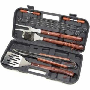 最佳烤架工具套件选项:Cutinart CGS-W13木柄工具集