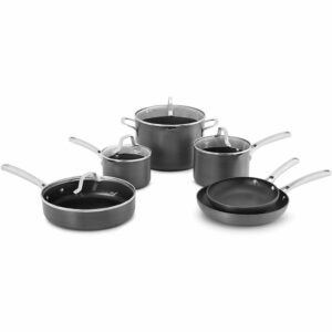 The Best Hard Anodized Cookware Option: Calphalon Classic Hard-Anodized, 10-Piece Set