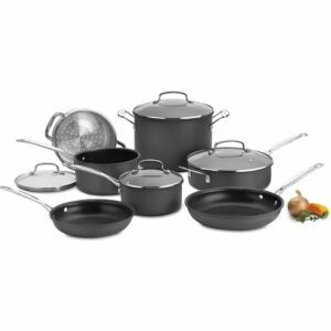 The Best Hard Anodized Cookware Option: Cuisinart Chef's Classic Hard-Anodized Cookware Set