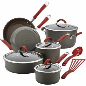 The Best Hard Anodized Cookware Option: Rachael Ray Cucina Hard Anodized, 12 Piece