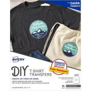 The Best Heat Transfer Paper Option: Avery Printable Heat Transfer Paper