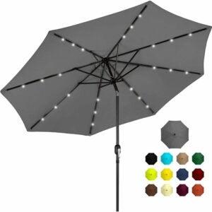 最佳庭院伞选择:最佳选择产品10英尺太阳能铝