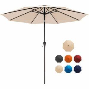 最好的天井伞选择:木诚hy天井市场雨伞9英尺紫外线防护