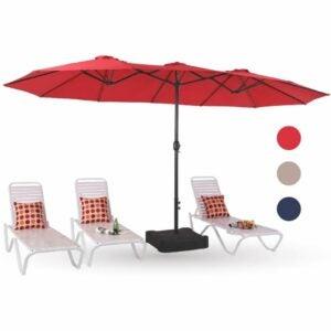 最佳露台伞选择:PHI别墅15英尺双面露台伞