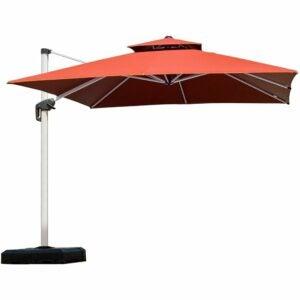 最好的庭院伞选择:紫叶9英尺庭院伞户外广场