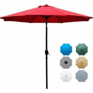 最好的庭院伞选项:Sunnyglade 9'露台伞