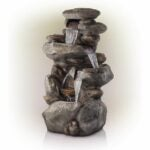 The Best Prime Day Lawn and Garden Option: Alpine Corporation 4-Tier Rock Water Fountain
