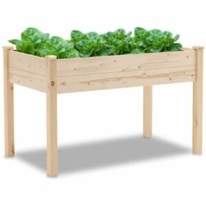 The Best Prime Day Lawn and Garden Option: Patiomore 4 Feet Outdoor Wooden Raised Planter Box