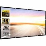 The Best Projector Screen Option: P-JING 120 inch 16:9 HD Foldable Projector Screen