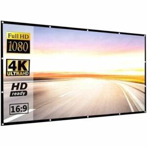 最佳投影仪屏幕选项:P-Jing 120寸16:9高清可折叠投影仪屏幕