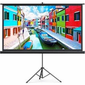 """最好的投影仪屏幕选项:Taotronics 4K HD 100""""投影仪带架子"""