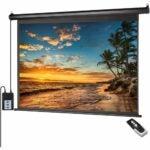 最好的投影仪屏幕选项: ZUEDA 100 inch 16:9 HD Motorized Projector Screen