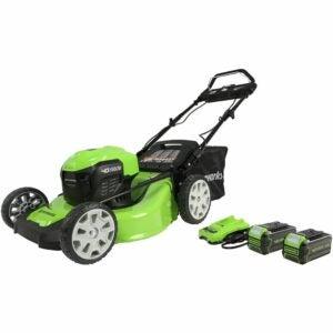 最佳推动割草机选项:绿制40V无刷(智能速度)自推进