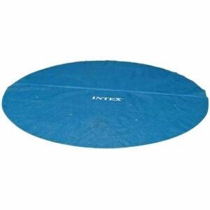 最佳太阳能池盖选择:Intex太阳能盖直径12英尺容易设置游泳池