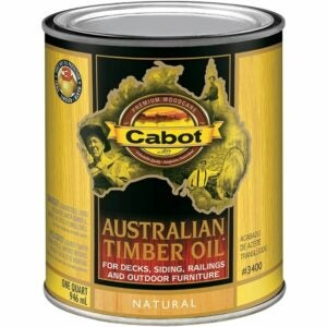 The Best Stain For Cedar Option: Cabot 140.0003400.005 Natural Australian Timber Oil