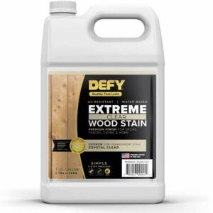 The Best Stain For Cedar Option: DEFY Extreme Semi-Transparent Exterior Wood Stain